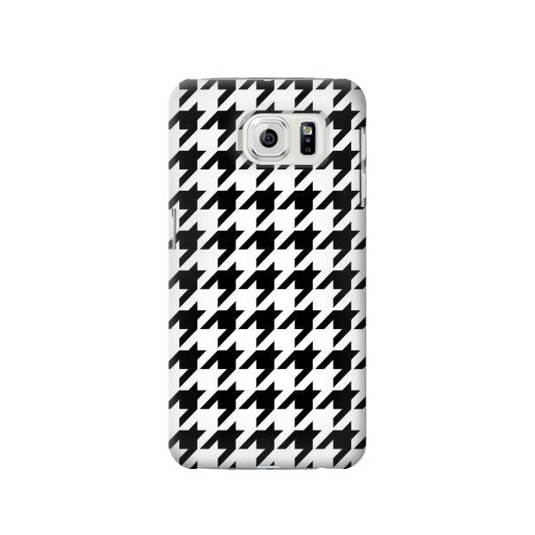 Black White Houndstooth Monogram Pattern Case